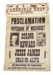 Replica Jesse James Wanted Poster